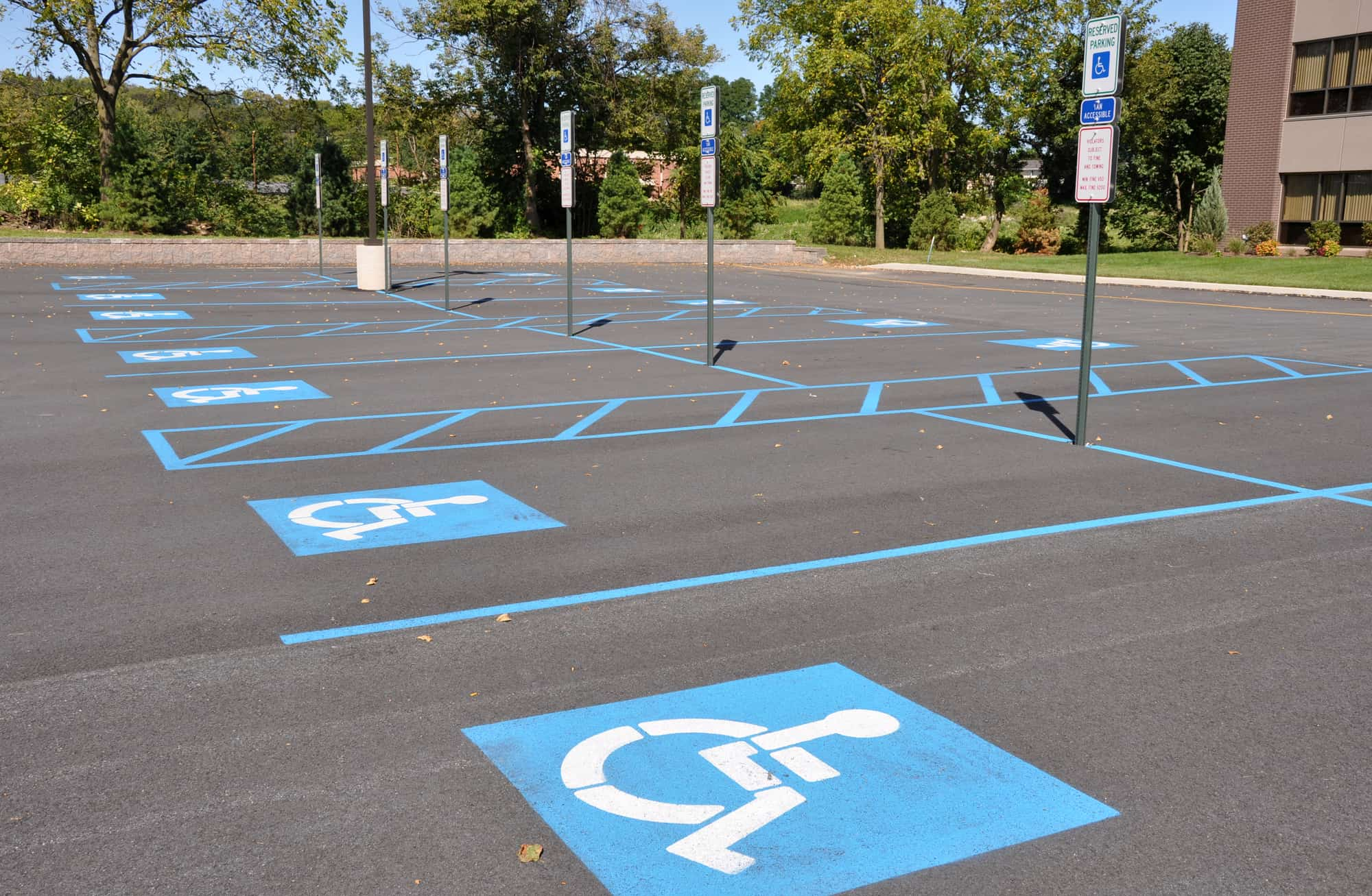 Tulsa parking lot striping